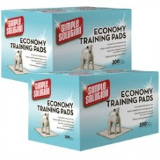 """2-PACK Simple Solution Economy Puppy Training Pads (200 Pad Pack 22"""" x 22"""")"""